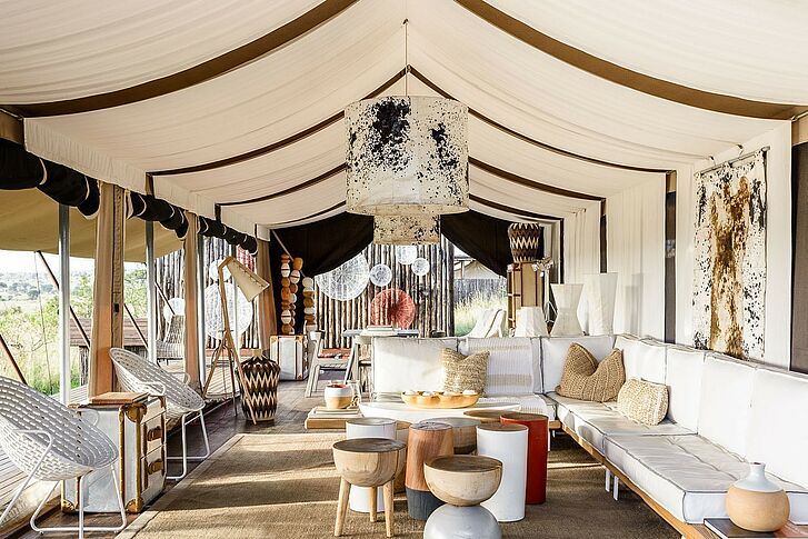 Lounge Singita Mara River Tented Camp Afrika