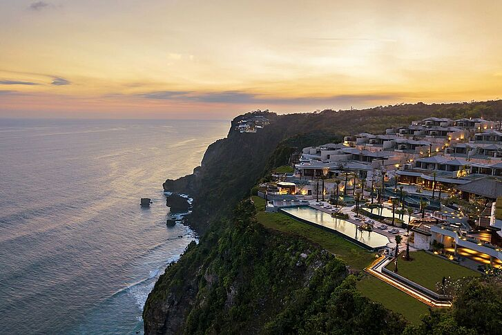 Aerial View Six Senses Uluwatu