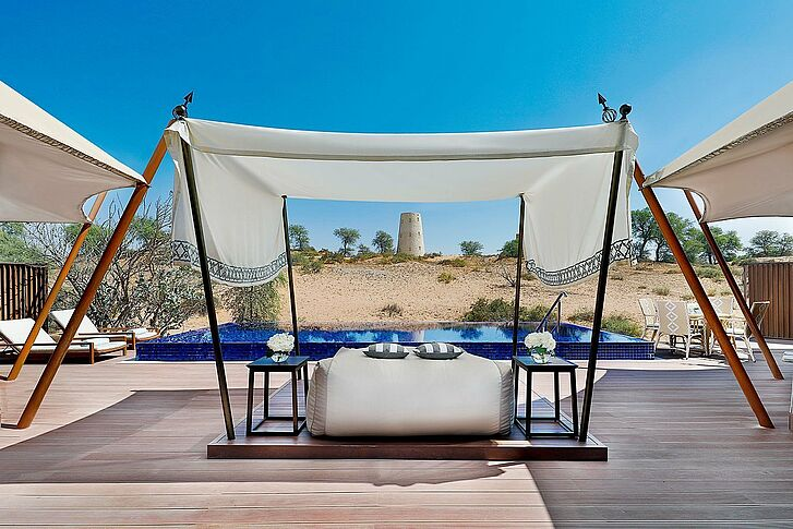 Tented Villa Pool The Ritz Carlton Al Wadi Desert