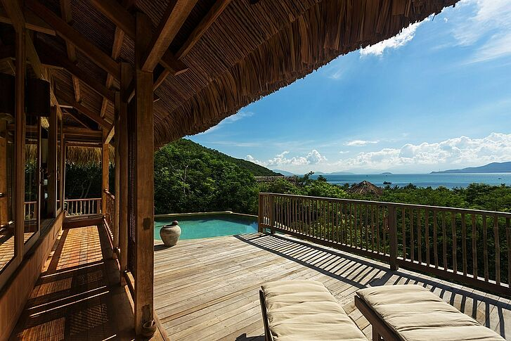 Terrasse Six Senses Ninh Van Bay