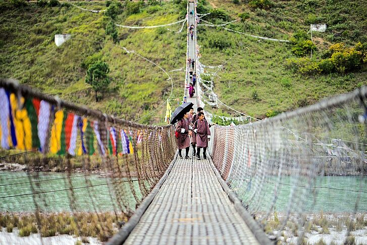 Punakha Suspension Bridge Six Senses Bhutan