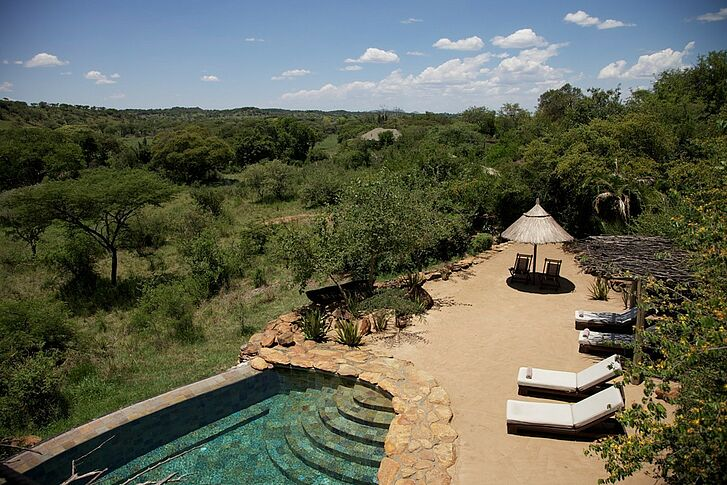 Pool Area Singita Faru Faru Lodge