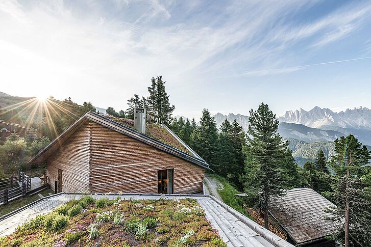Sunrise Odles Lodge Dolomites