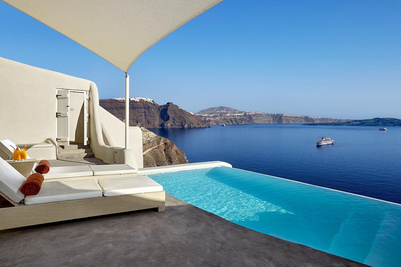 mystique resort santorin luxushotels bei designreisen. Black Bedroom Furniture Sets. Home Design Ideas