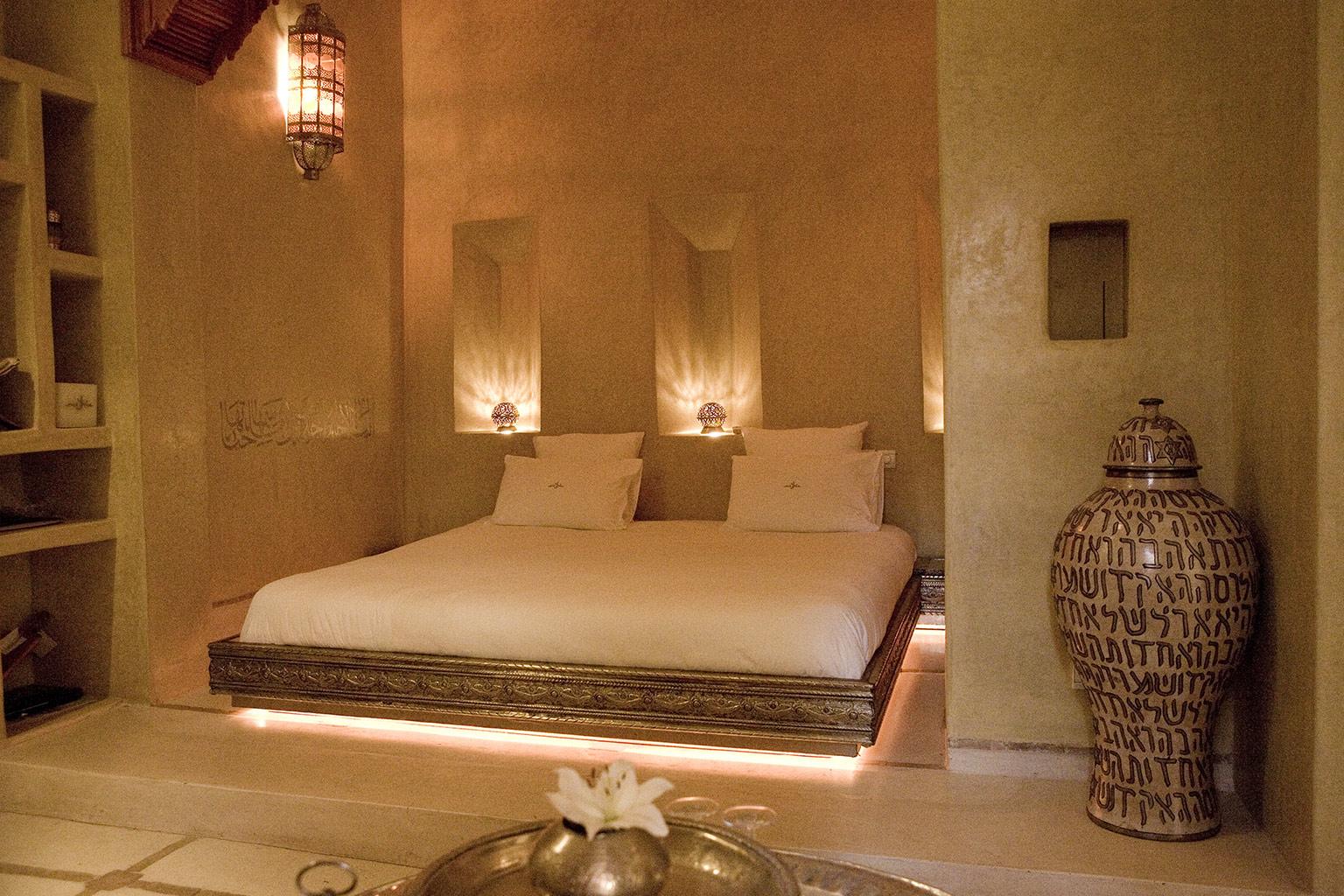 Anayela In Marrakesch | Luxushotel Bei Designreisen Innenhof In Marokkanischem Stil Gestalten