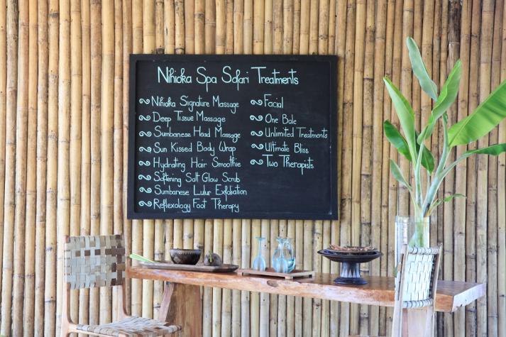 Sumba Spa Karte