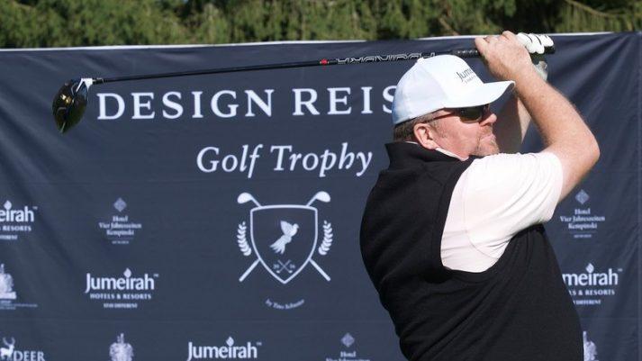 Golf Trophy: Sven Wiedenhaupt beim Abschlag