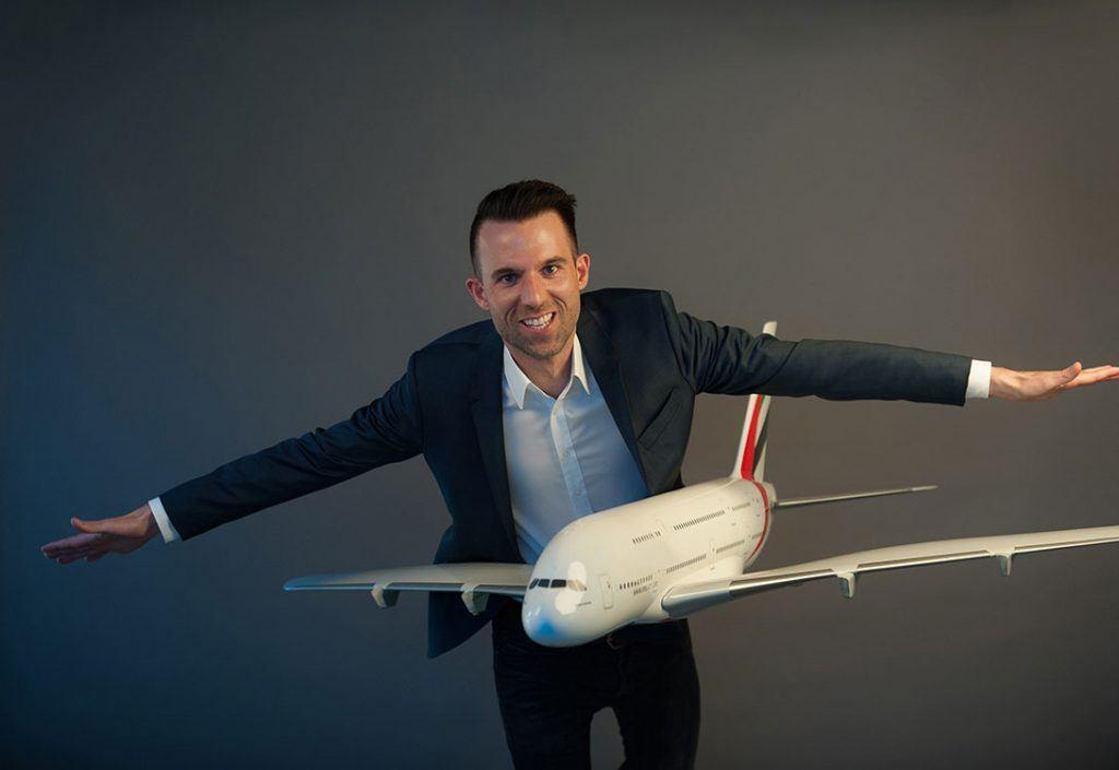 DESIGNREISEN-Flugspezialist Andreas Pfleger.