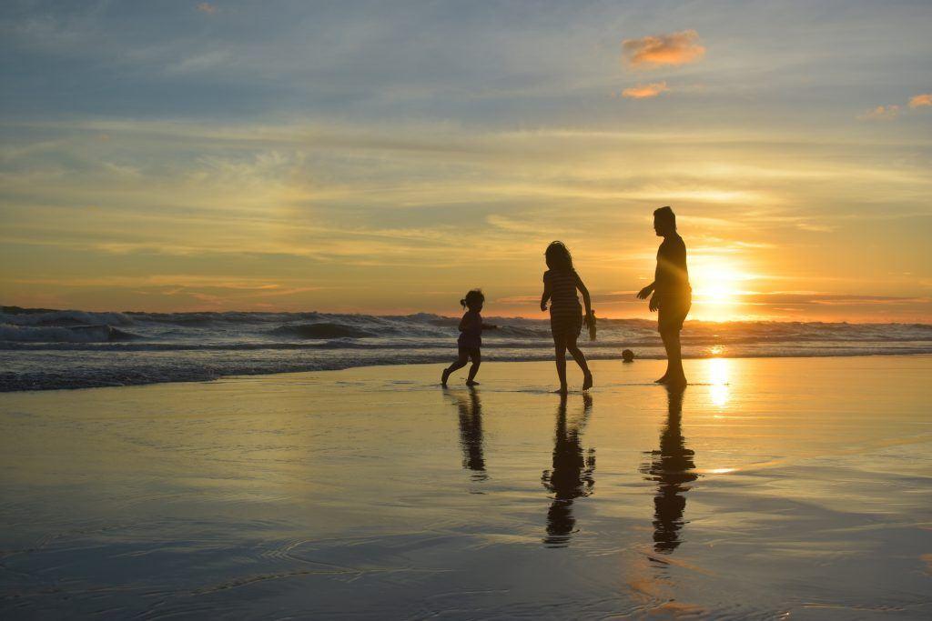 Familie, Sonne, Meer, Strand