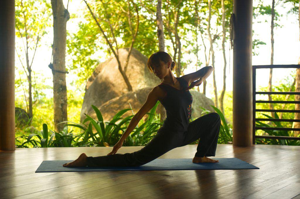 Frau, Yoga, Sport, Thailand